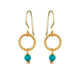 Alexis Earrings Turquoise - Mirabelle Jewellery