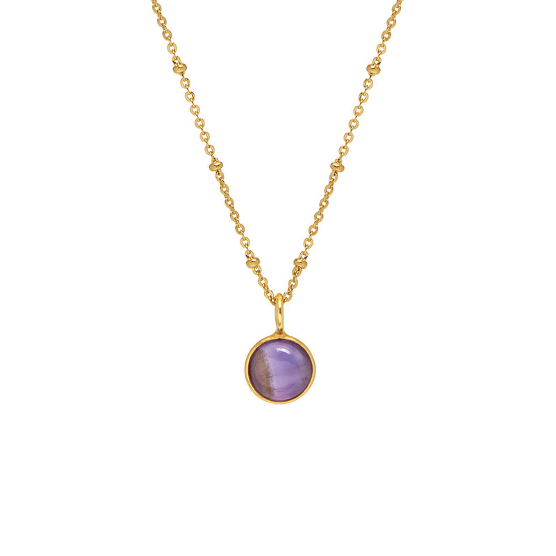 Amethyst Cabochon Pendant - Mirabelle Jewellery