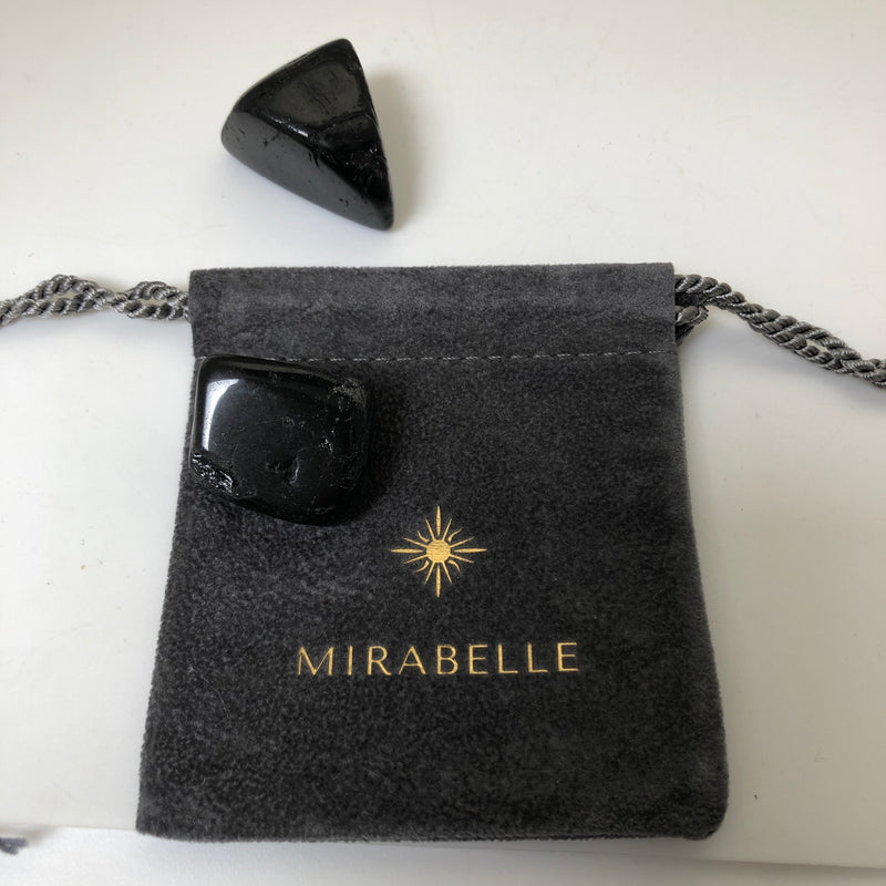 Black Tourmaline Pebble - Mirabelle Jewellery