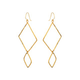 Double Losange Earrings - Mirabelle Jewellery