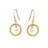 Alexis Freshwater Pearl Earrings - Mirabelle Jewellery