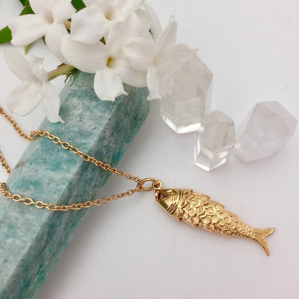 Large Articulated Fish Charm - Mirabelle Jewellery