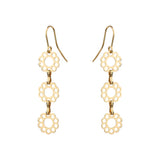 Marguerite Chain Earrings - Mirabelle Jewellery