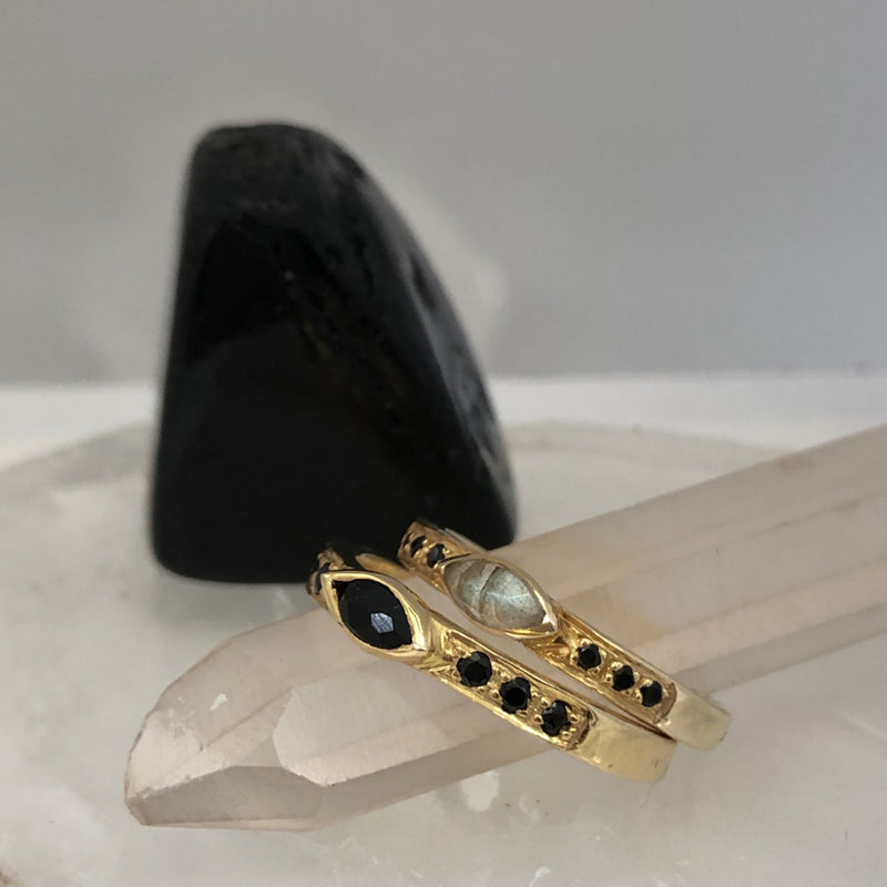 Marquise Ring Black Onyx - Mirabelle Jewellery