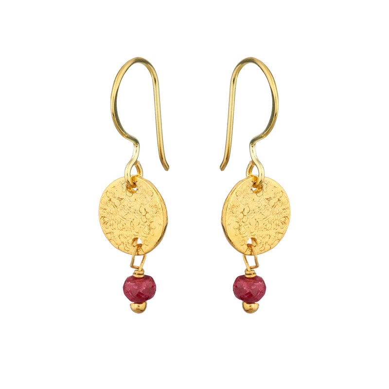 Mini Harmonia Earrings Semi-Precious - Mirabelle Jewellery