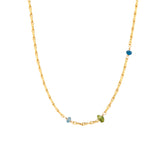 Mini Torsade Chain with Apatite and Peridot - Mirabelle Jewellery