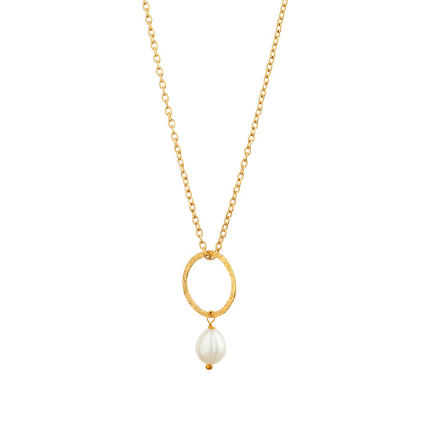 Margaret Pendant with Freshwater Pearl - Mirabelle Jewellery