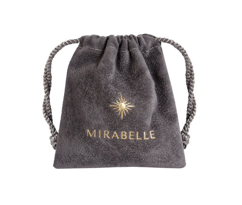 Cora Creole with Raw Mineral - Mirabelle Jewellery