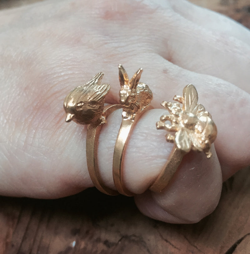 Rabbit Ring British Made - Mirabelle Jewellery