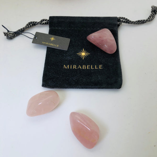 Rose quartz pebble for Love - Mirabelle Jewellery