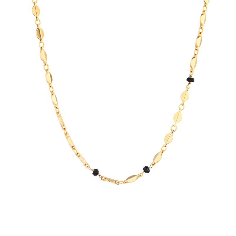 Rose Chain with Black Tourmaline - Mirabelle Jewellery