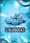 27.000 V-Bucks PC/XBOX/Mobile/PS4 (Few Hours Delivery)