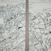 Load image into Gallery viewer, Botcon Transformers OTFCC 2003 Universe original comic COVER INKS art