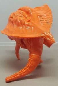 Y-MSF unpainted ORANGE Flying Hedorah & captured Godzilla 6 inch scale figures