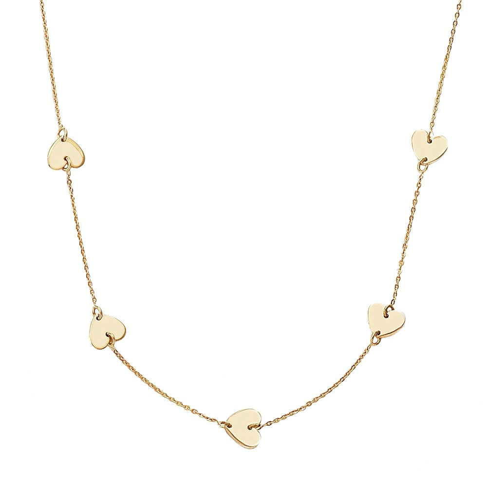 Marie Multi Heart Necklace