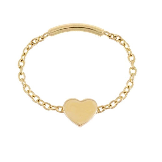 Heart Chain Ring