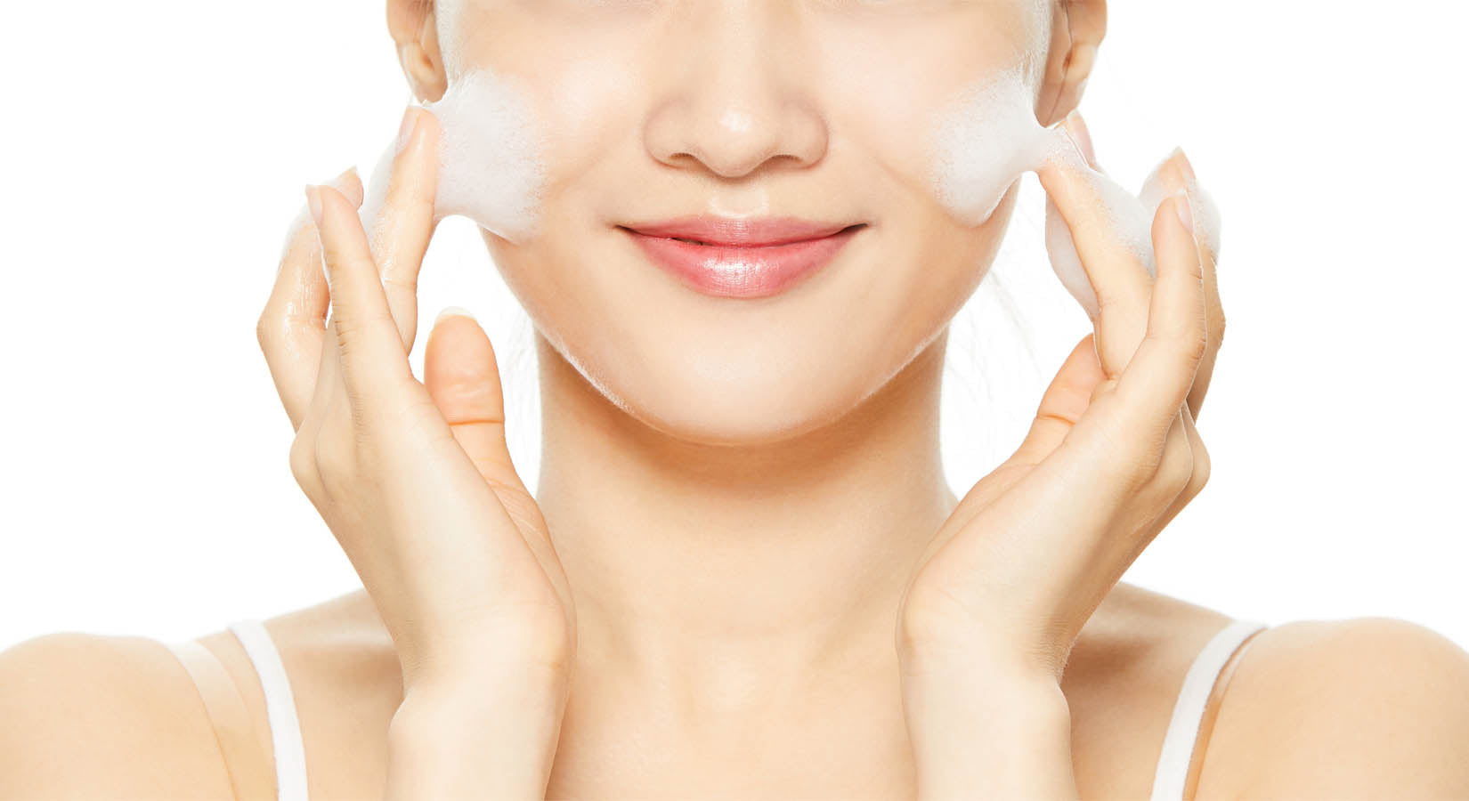 Step one of the Korean Skincare routine is an oil based cleanser followed by a foam cleanser to remove any makeup residues.
