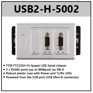 USB to RS485 adapters (High Speed)