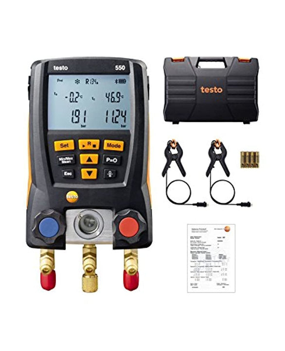 testo 550 I Digital Manifold Kit for air conditioning, refrigeration systems and heat pumps - with Bluetooth support