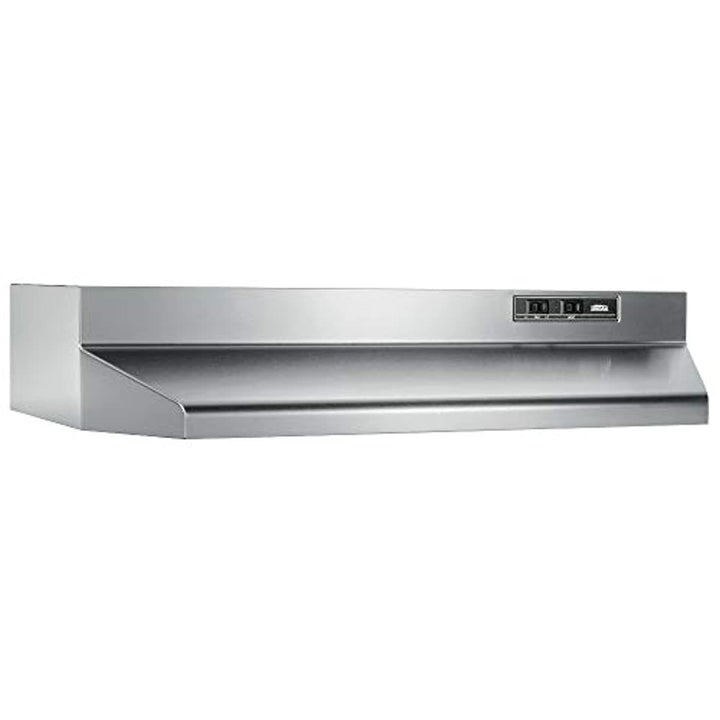 Broan-NuTone 402404 Convertible Range Hood Insert with Incandescent Light, Exhaust Fan for Under Cabinet, Stainless Steel, 6.5 Sones, 160 CFM, 24""