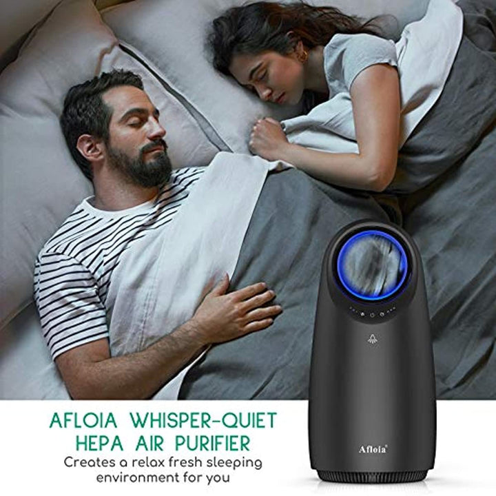 Afloia Air Purifier With H13 True HEPA Filter, Quiet Air Purifier for Home Bedroom, Air Filter Cleaner for Allergies, Pets Hair Dander, Smokers, Dust, Pollen, Mold, Odor