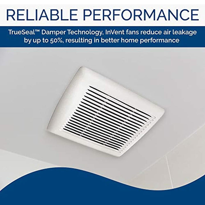 Broan-NuTone AE110 Invent Flex Energy Star Qualified Single-Speed Ventilation Fan, 110 CFM 1.0 Sones, White