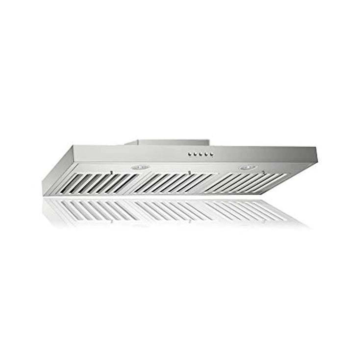 KOBE RAX2136SQB-1 Brillia 36-inch Under Cabinet Range Hood, 3-Speed, 750 CFM, LED Lights, Baffle Filters