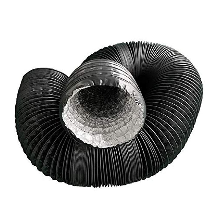 16.5Ft HVAC Duct Hose Ducting Hose PVC Ducting Hose Ducting Pipe for Inline Duct Fan or Grow Tent System (4