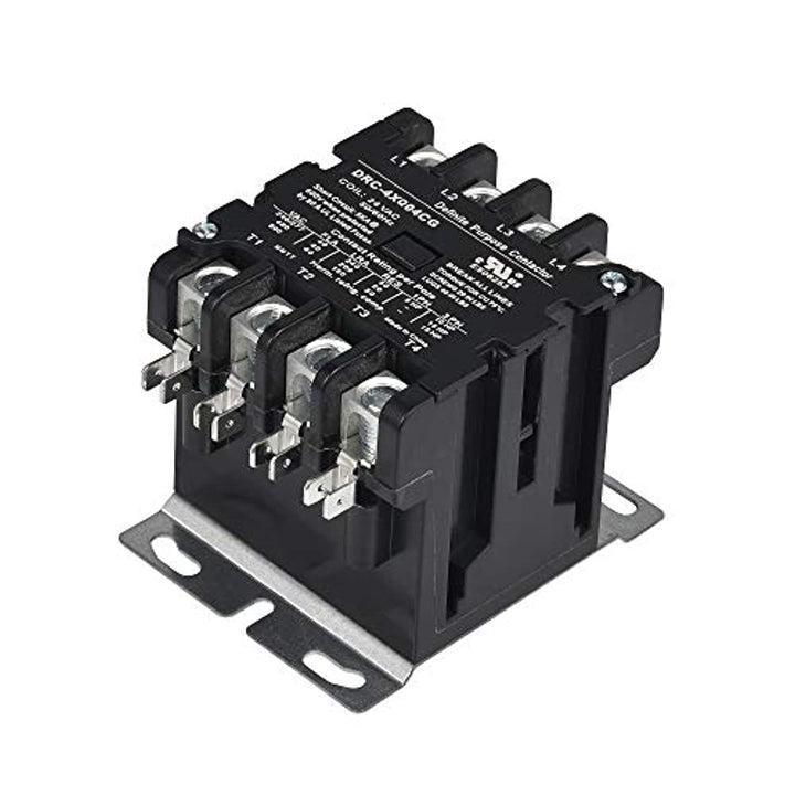 Sunlee controls DEFINITE PURPOSE CONTACTOR 4 Pole 40 Amp 120V Coil fits Siemens Furnas 42CF25AF Lighting Heating Refrigeration Contactor