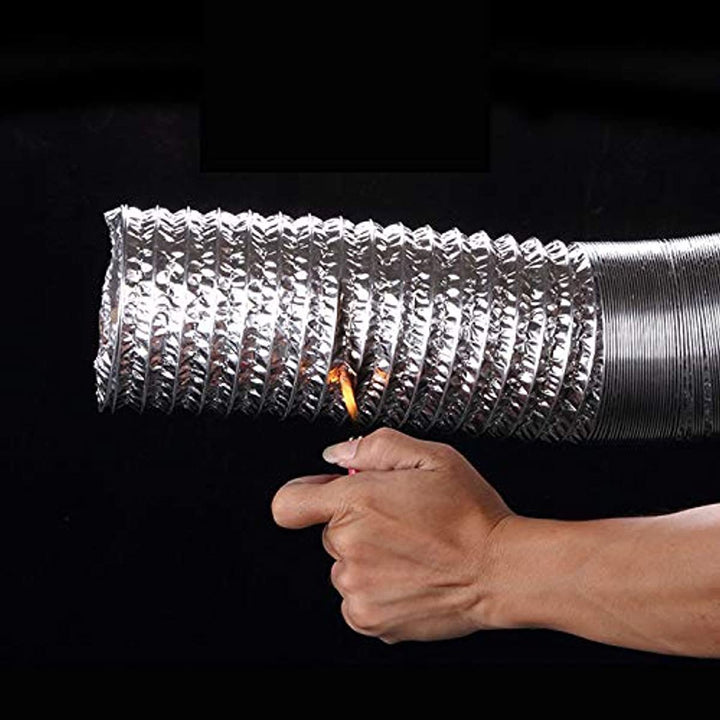 Hon&Guan 6 Inch Flexible Clothes Dryer Transition Duct, Hose Aluminum HVAC Ducting 6.56 Feet for Grow Room Tent Ventilation Cooling HVAC Heating or Dryers