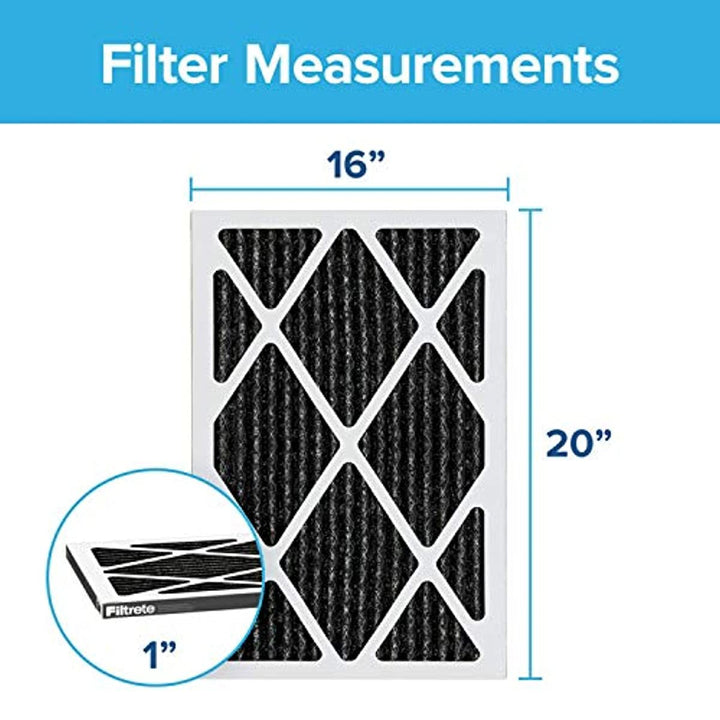Filtrete 16x20x1, AC Furnace Air Filter, MPR 1200, Allergen Defense Odor Reduction, 2-Pack (exact dimensions 15.719 x 19.719 x 0.84)