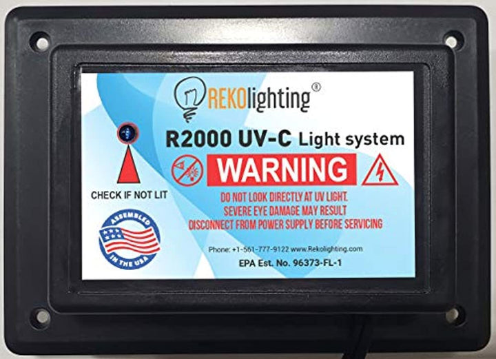 REKO Lighting R2000 Air Purifier Whole House Uv uvc Light in Duct for HVAC Ac (Air Conditioning) Duct