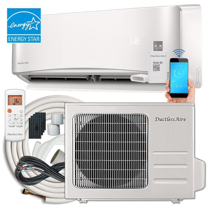 Energy Star 24,000 BTU 2 Ton Ductless Mini Split Air Conditioner and Heat Pump Variable Speed Inverter - 220V/60Hz