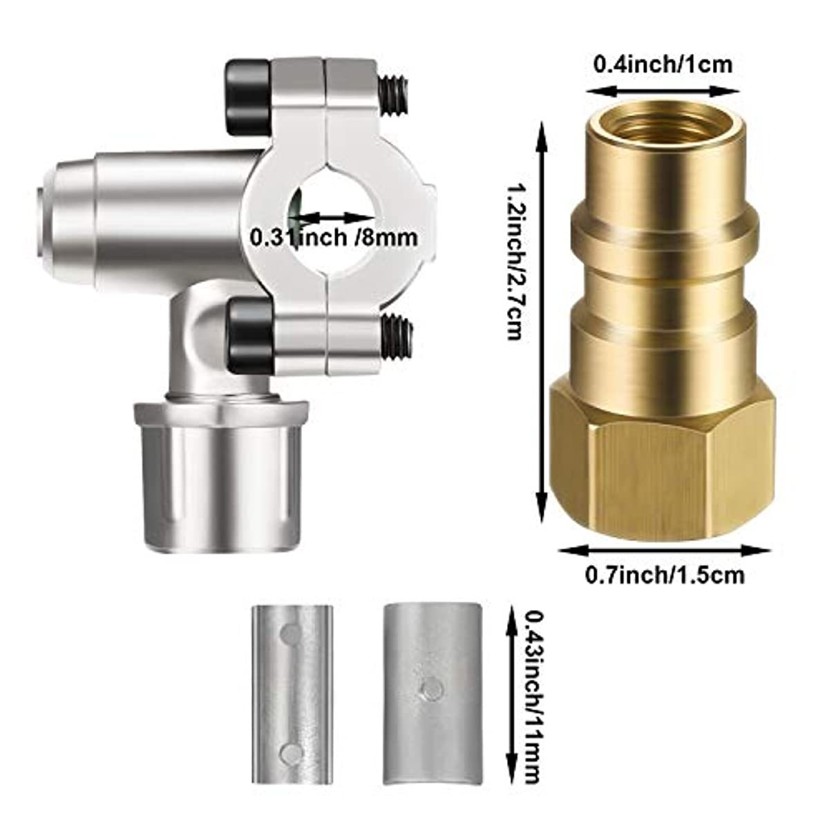 A/C Retrofit Valve with Dust Cap Converts R12 to R134a Fit 7/16 Inch Low Side Port BPV-31 Bullet Piercing Tap Valve Replace for AP, BPV31D, GPV14, GPV31, GPV38, GPV56, MPV31