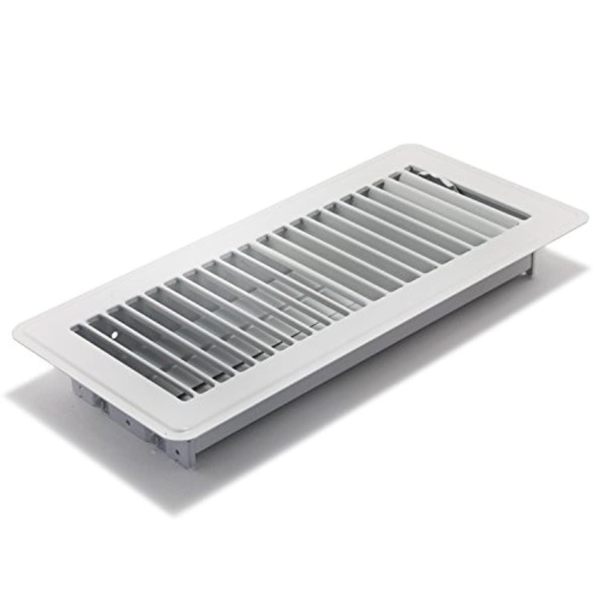 Accord ABFRWH410 Floor Register with Louvered Design, 4-Inch x 10-Inch, White