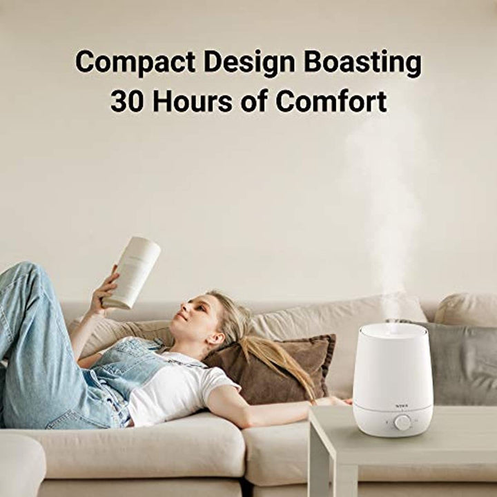 Winix Ultrasonic Cool Mist Humidifier - Premium Humidifying Unit with Whisper-Quiet Operation, Automatic Shut-Off and Night Light Function - Lasts Up to 30 Hours