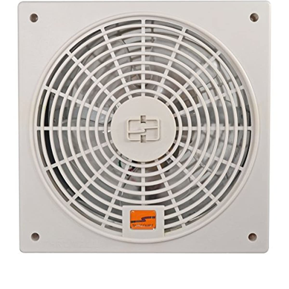 Suncourt TW408 ThruWall 2 Speed Room to Room Wall Mounted Air Flow Transfer Fan with 10 Foot Power Cord and Installation Kit, Whtie
