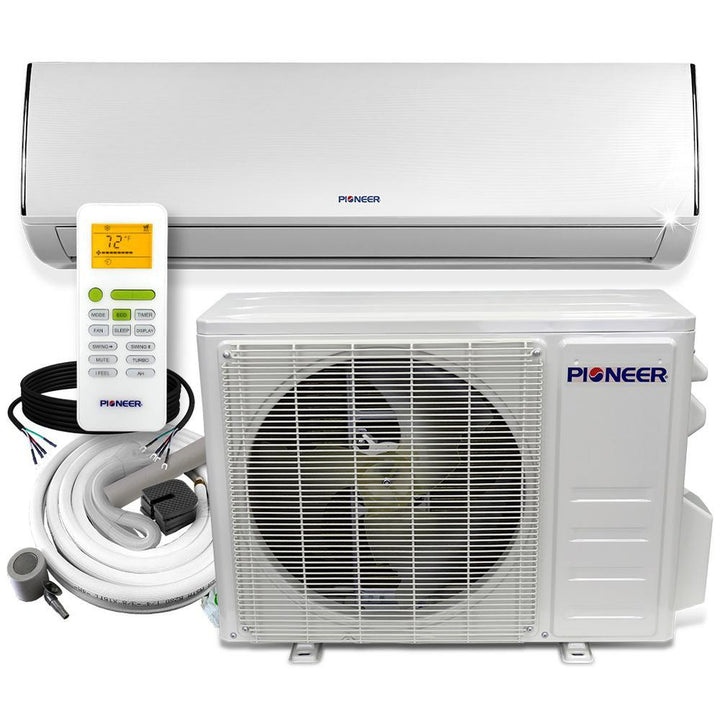 Low-Ambient 18,000 BTU 1.5 Ton 19 SEER Ductless Mini Split Wall Mounted Inverter Air Conditioner with Heat Pump 208/230V