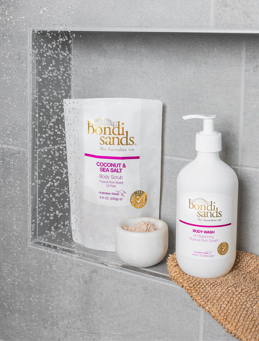 Bondi Sands Tropical Rum Scented Body Scrub and Body Wash