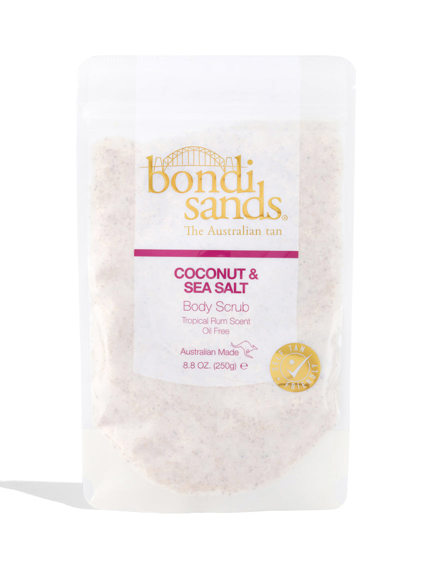 Australian Made Coconut and Sea Salt Body Scrub in Tropical Rum Scent