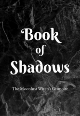 Book of Shadows The Moonlust Witch's Grimoire Journal Cover in Black and White