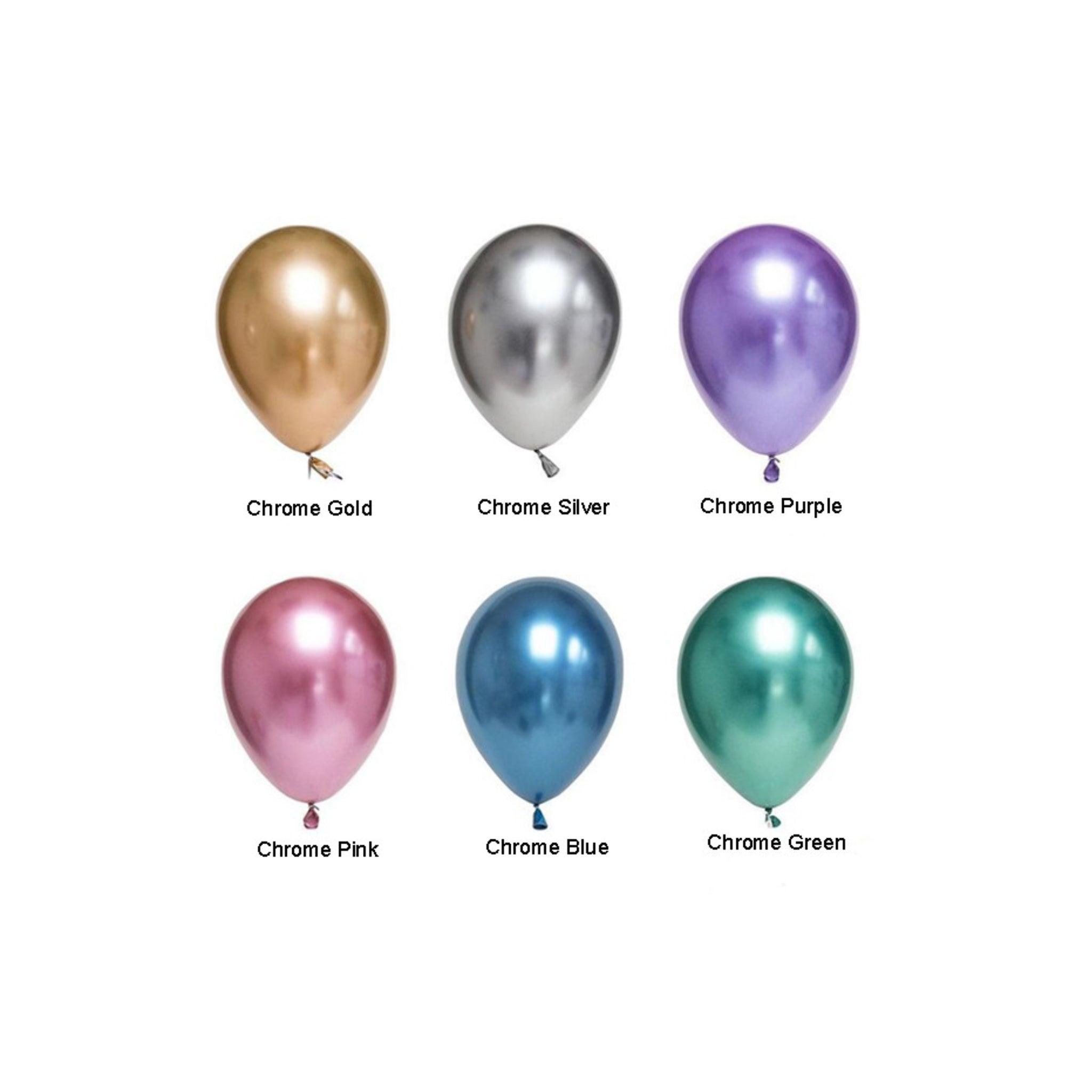 Chrome Balloons (3-5 days leadtime) - 10pcs