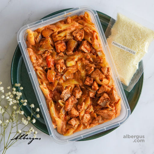 Penne with Salmon and Smoked Tomato Cream Sauce (Chilled - Heat to Serve, 1 day leadtime)