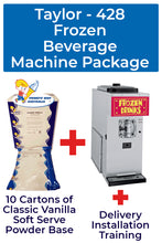 Load image into Gallery viewer, Taylor 428 Frozen Beverage Machine Package with 40 cartons of Art of Blend Products