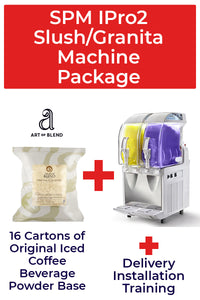 SPM I-Pro 2 Slush/Granita Machine Package with 16 cartons Iced Coffee base