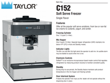 Load image into Gallery viewer, Taylor C152 Soft Serve Machine Package with 7 cartons of Soft Serve base