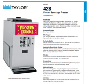 Taylor 428 Frozen Beverage Machine Package with 40 cartons of Art of Blend Products