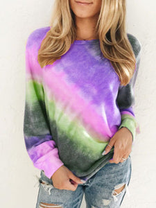 💖Christmas Rainbow Print Plus Size Long Sleeve Sweatshirt💖