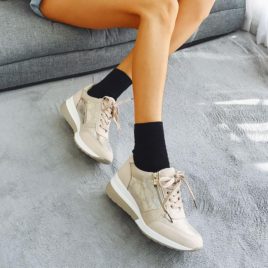 Women's  Breathable Casual Wedge Sneaker