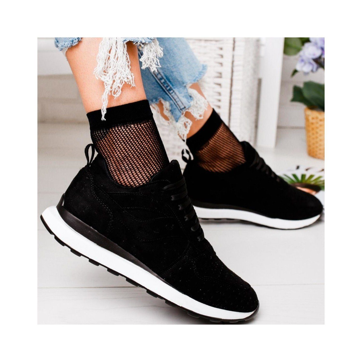 Women's Suede Casual Sports Shoes Sneaker
